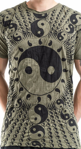 Sure Design Men's Multi Yin-Yang T-Shirt Green