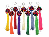 Wholesale Assorted 10 Piece Set Hand Made Hmong Tassle Key Chain - $20.00