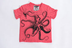Sure Design Kids Octopus T-Shirt Red