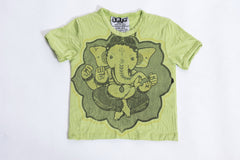 Sure Design Kids Baby Ganesha T-Shirt Lime