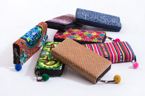 Assorted 4 Piece Set Aztec,Ethnic Hill Tribe Wallet