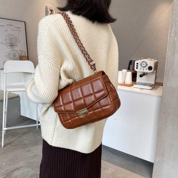 Amber Square Quilted Crossbody Bag