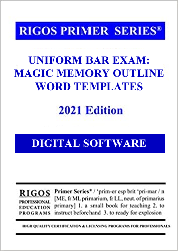 Uniform bar exam magic memory outline word templates