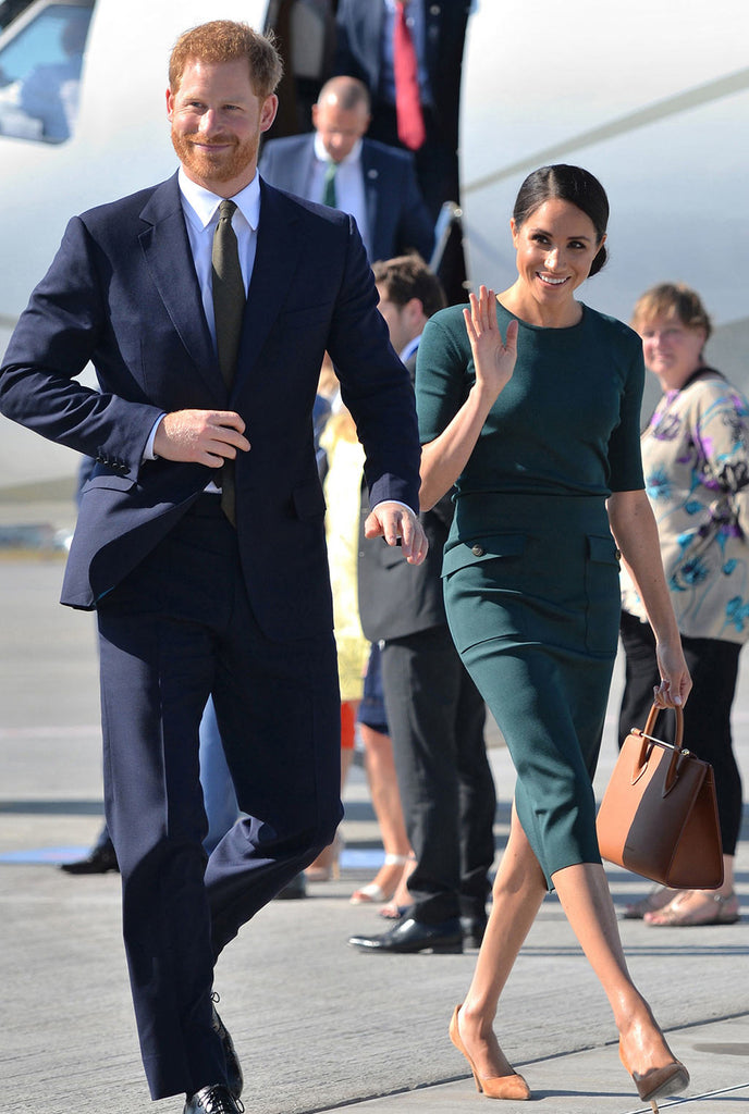 Duchess of Sussex Carrying Midi Tote Tan Bridle