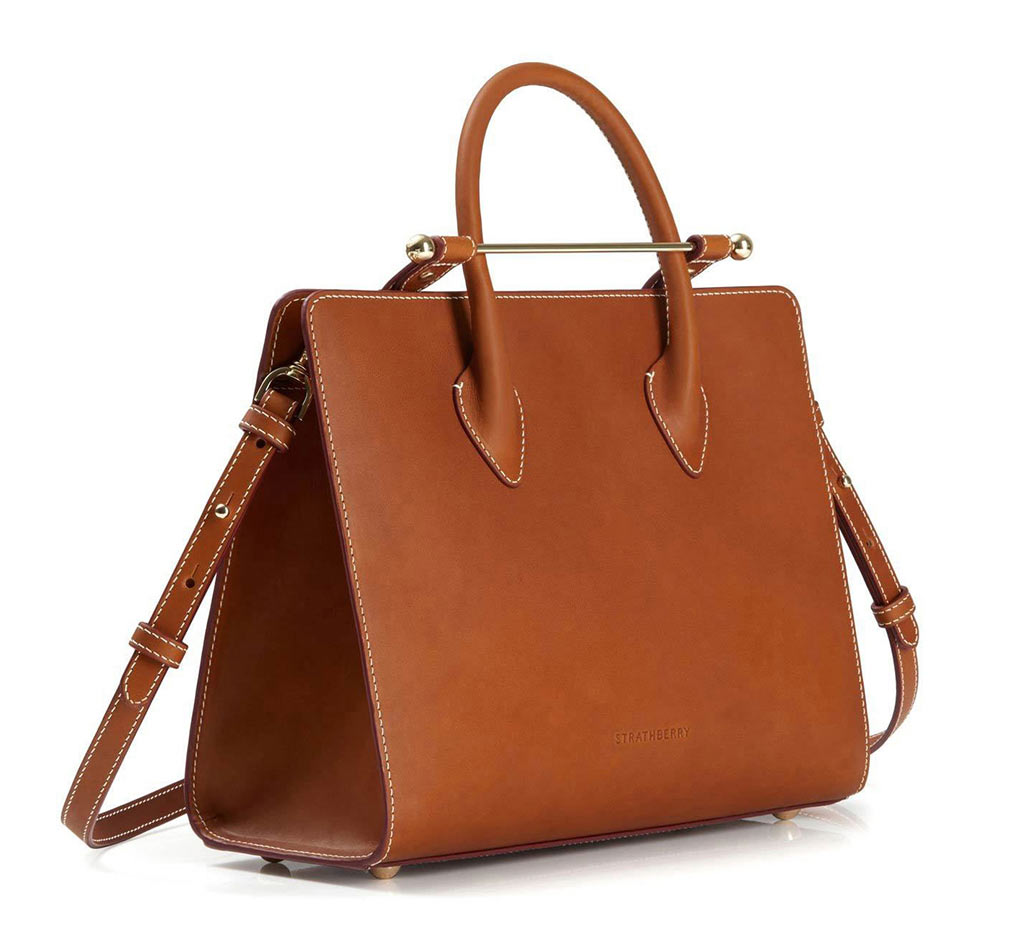 The Strathberry Midi Tote - Tan Bridle