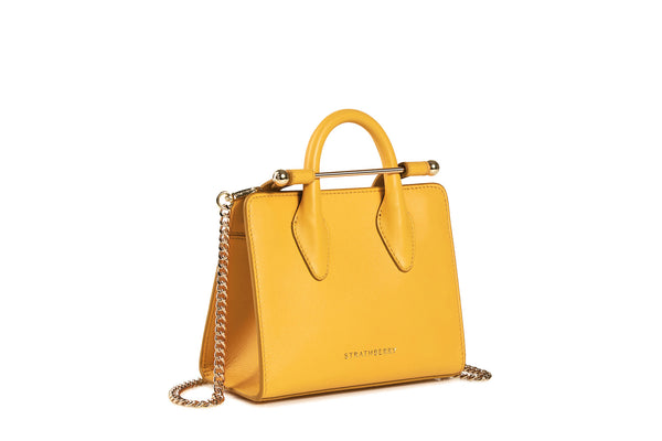 320ce073b6cd The Strathberry Nano Tote - Blossom Yellow Leather Mini Bag - Strathberry
