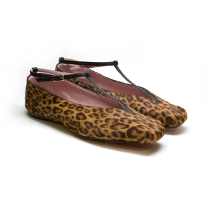 MARY T-Strap - Haircalf Leopard
