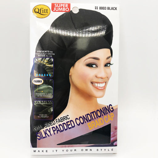 Super Jumbo Silky Padded Conditioning Braid Cap - Luxe & Glam Beauty Supply