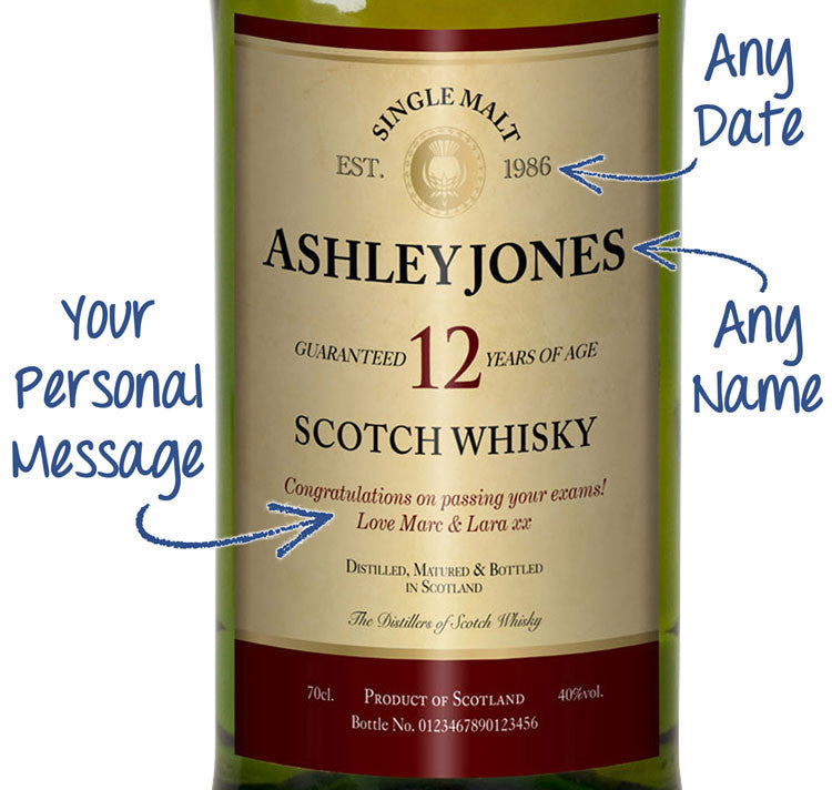 Personalised 12 Year Old Single Malt Scotch Whisky - Personalised Gift Solutions - 2