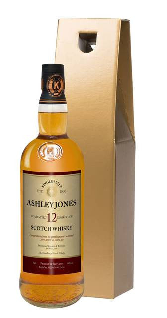 Personalised 12 Year Old Single Malt Scotch Whisky - Personalised Gift Solutions - 3