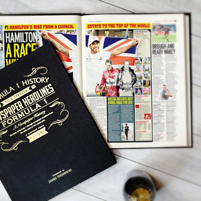 Personalised Formula One Newspaper Book - NEW updated 2018 version