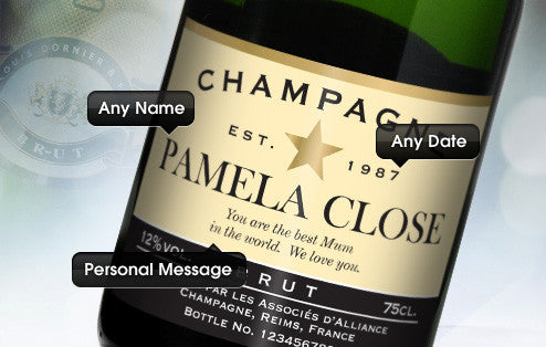 Personalised Champagne & Flutes Giftpack for Birthdays - Personalised Gift Solutions - 2