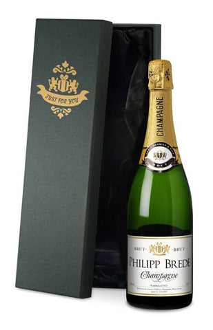 Personalised Champagne with Classic all occasions Label