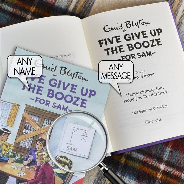 Personalised Famous Five Give Up The Booze Book