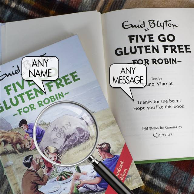 Personalised Famous Five Go Gluten Free Book