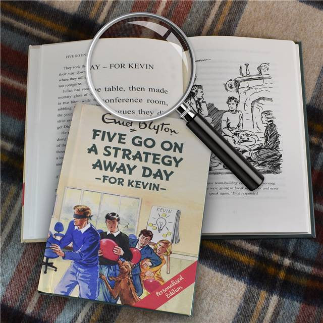 Personalised Famous Five Go On A Strategy Away Day Book