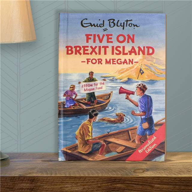 Personalised Famous Five On Brexit Island Book