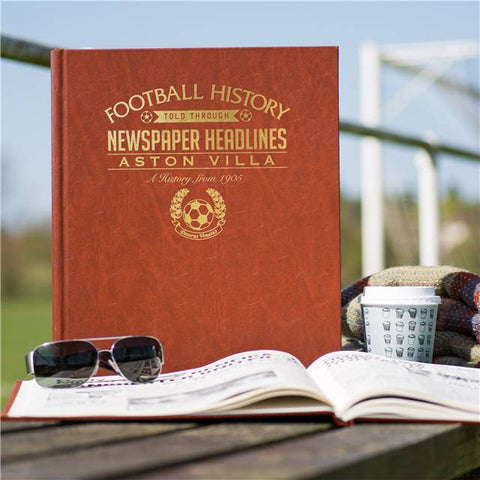 Personalised Aston Villa Football History Book