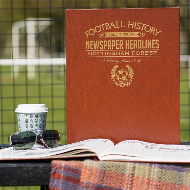 Personalised Nottingham Forest Football Newspaper Book - Personalised Gift Solutions - 1