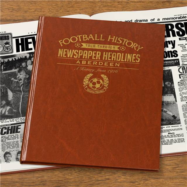 Personalised Aberdeen Football Newspaper Book - Personalised Gift Solutions - 3