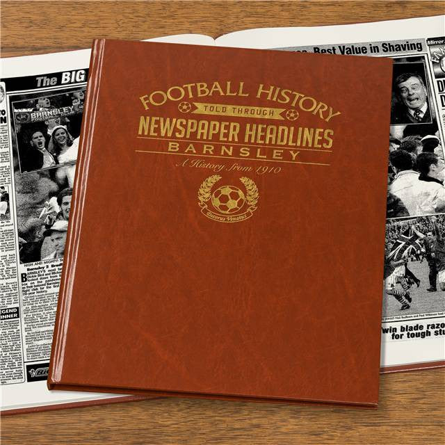 Personalised Barnsley Football Newspaper Book - Personalised Gift Solutions - 4