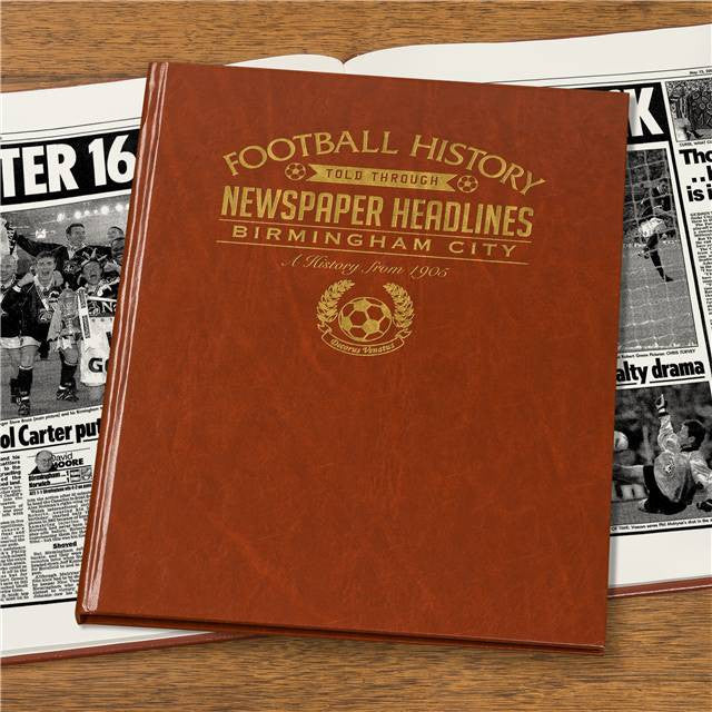 Personalised Birmingham Football Newspaper Book - Personalised Gift Solutions - 4