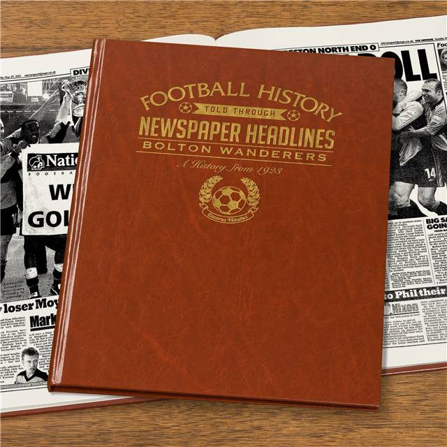 Personalised Bolton Football Newspaper Book - Personalised Gift Solutions - 6