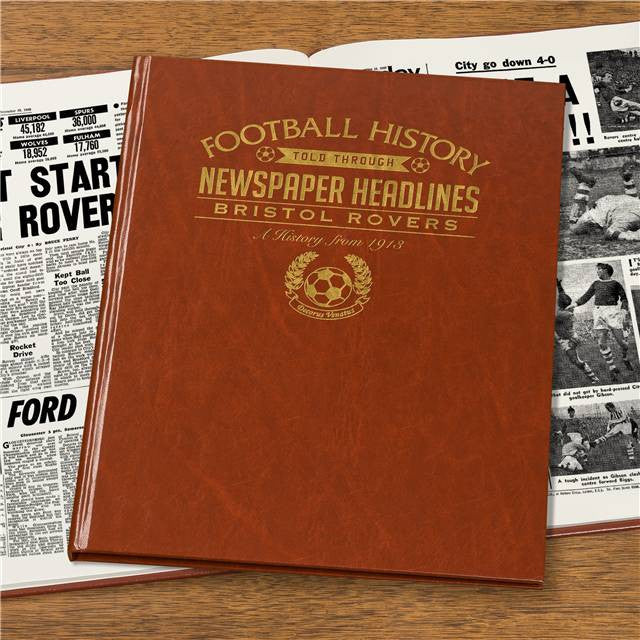 Personalised Bristol Rovers Football Newspaper Book - Personalised Gift Solutions - 6