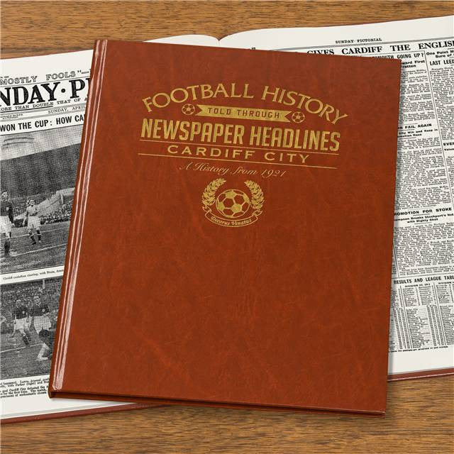 Personalised Cardiff Football Newspaper Book - Personalised Gift Solutions - 4