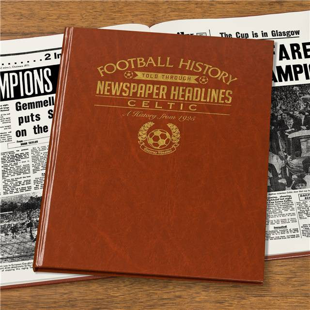 Personalised Celtic Football Newspaper Book - Personalised Gift Solutions - 4