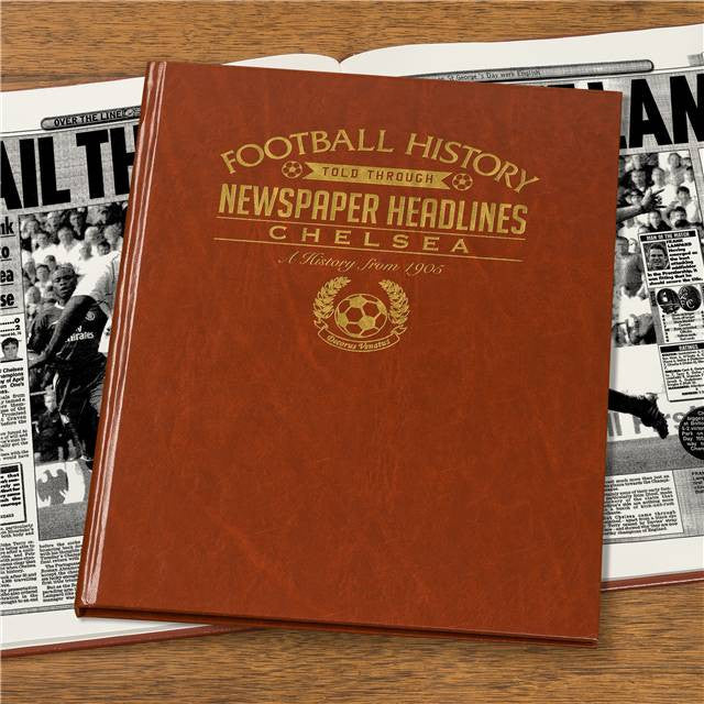 Personalised Chelsea Football Newspaper Book - Personalised Gift Solutions - 4