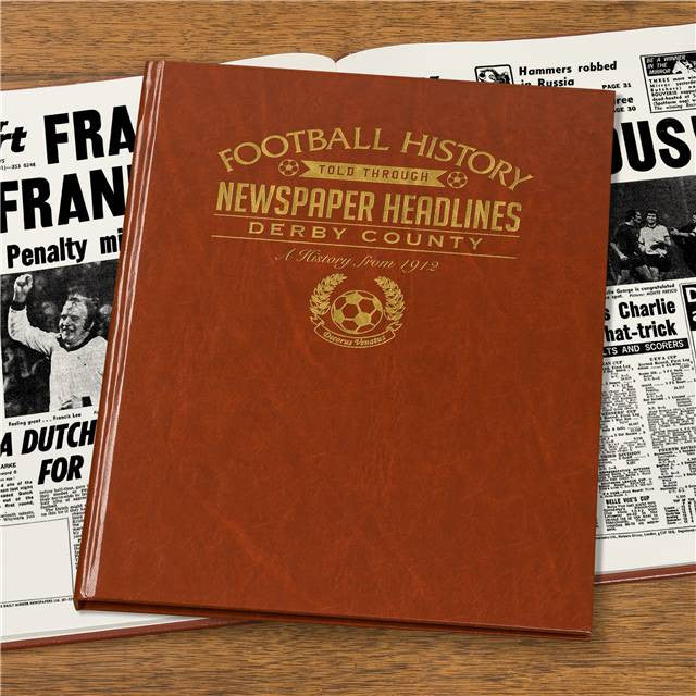 Personalised Derby Football Newspaper Book - Personalised Gift Solutions - 3