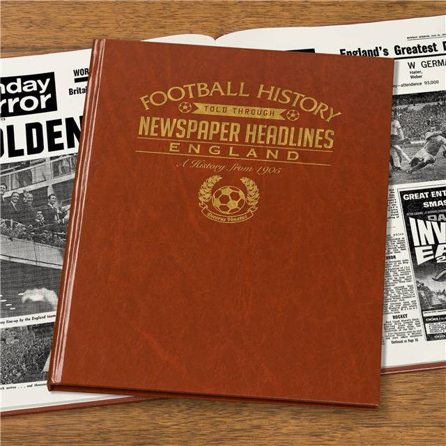 Personalised England Football Newspaper Book - Personalised Gift Solutions - 4
