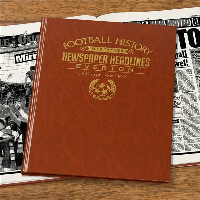 Personalised Everton Football Newspaper Book - Personalised Gift Solutions - 4