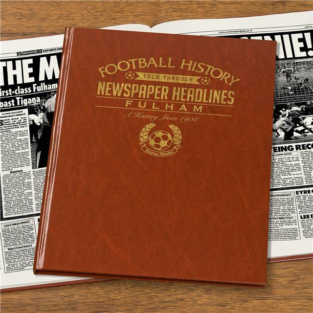 Personalised Fulham Football Newspaper Book - Personalised Gift Solutions - 4