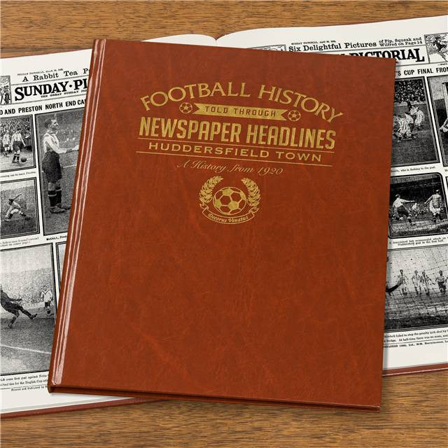 Personalised Huddersfield Football Newspaper Book - Personalised Gift Solutions - 4