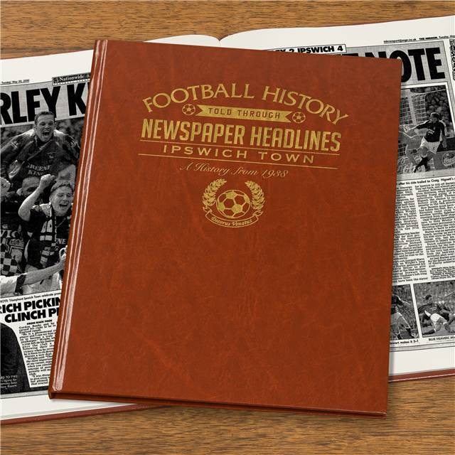 Personalised Ipswich Football Newspaper Book - Personalised Gift Solutions - 4