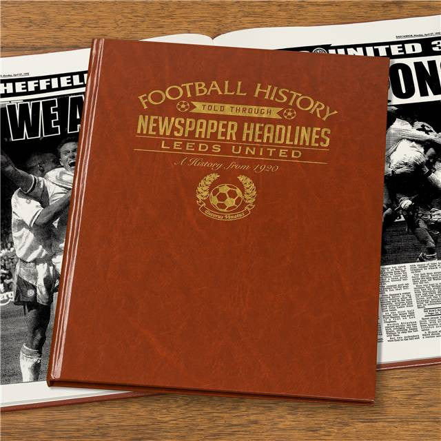 Personalised Leeds Football Newspaper Book - Personalised Gift Solutions - 3