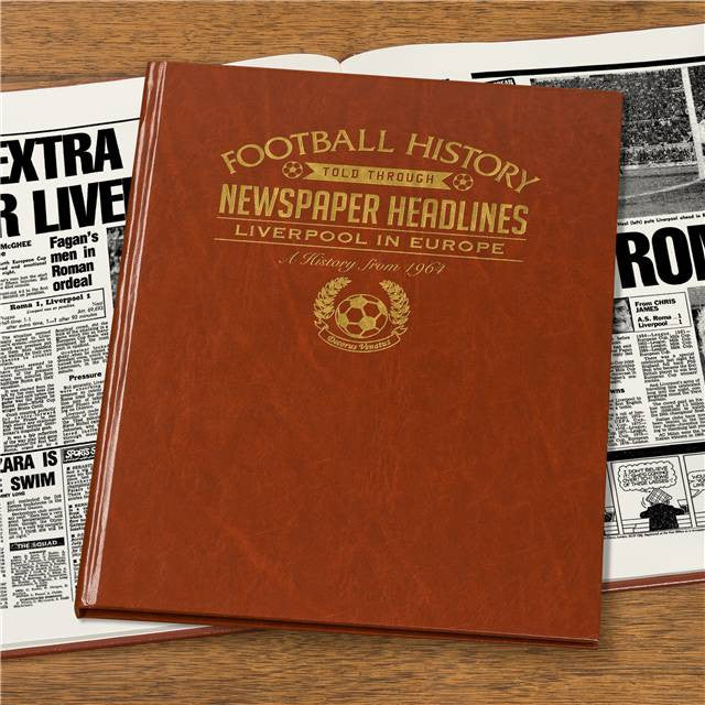 Personalised Liverpool Europe Football Newspaper Book - Personalised Gift Solutions - 7
