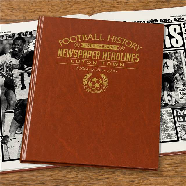 Personalised Luton Football Newspaper Book - Personalised Gift Solutions - 7