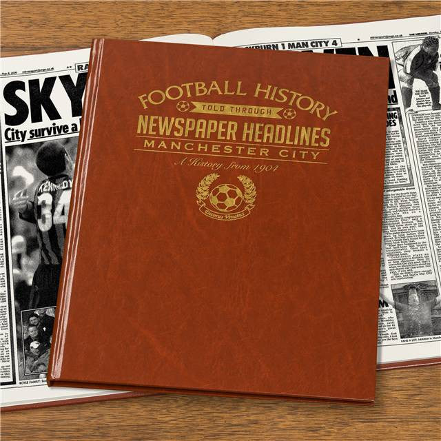 Personalised Manchester City Football Newspaper Book - Personalised Gift Solutions - 7