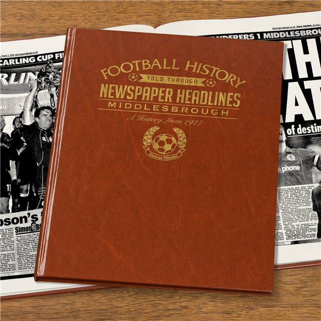 Personalised Middlesbrough Football Newspaper Book - Personalised Gift Solutions - 4