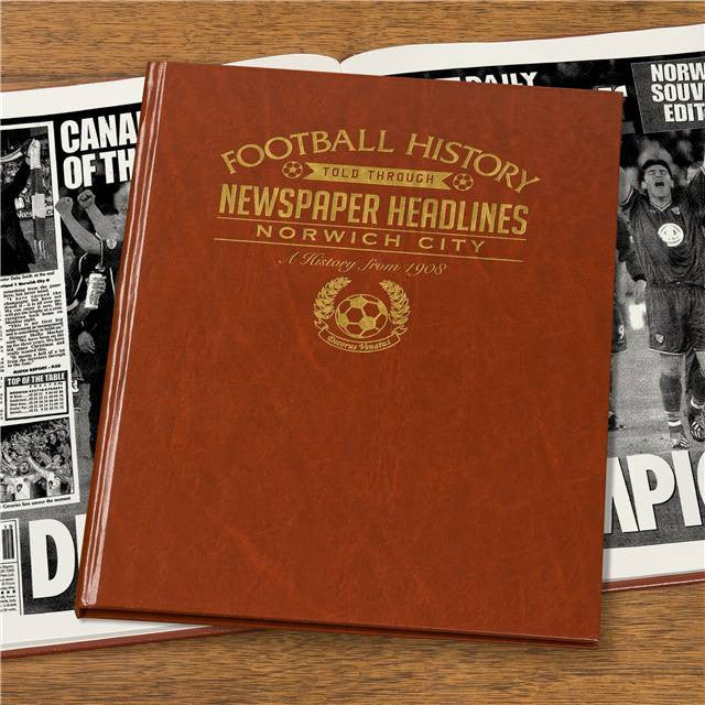 Personalised Norwich City Football Newspaper Book