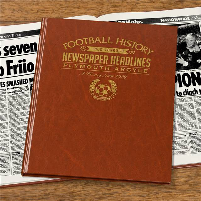Personalised Plymouth Football Newspaper Book - Personalised Gift Solutions - 7