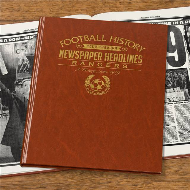 Personalised Rangers Football Newspaper Book - Personalised Gift Solutions - 7