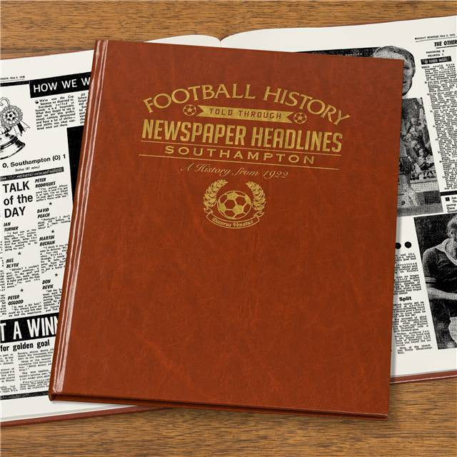 Personalised Southampton Football Newspaper Book - Personalised Gift Solutions - 4