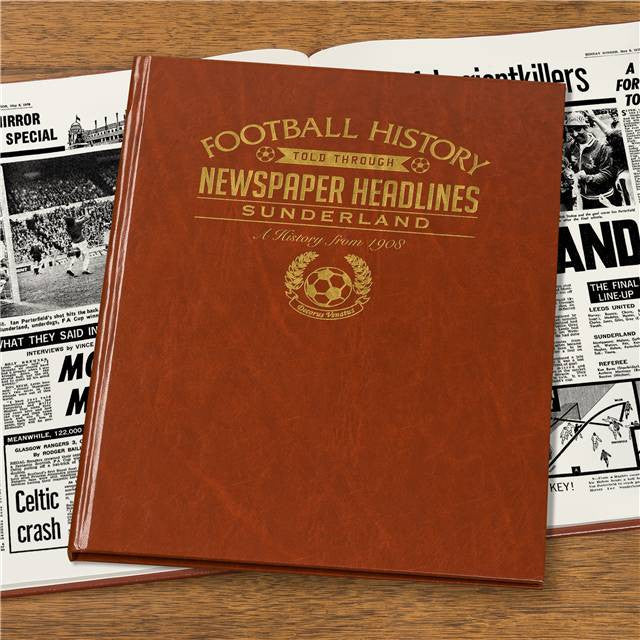 Personalised Sunderland Football Newspaper Book - Personalised Gift Solutions - 7