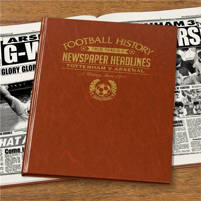 Personalised Spurs V Arsenal Derby Football Newspaper Book - Personalised Gift Solutions - 7