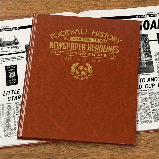Personalised WBA Football Newspaper Book - Personalised Gift Solutions - 4
