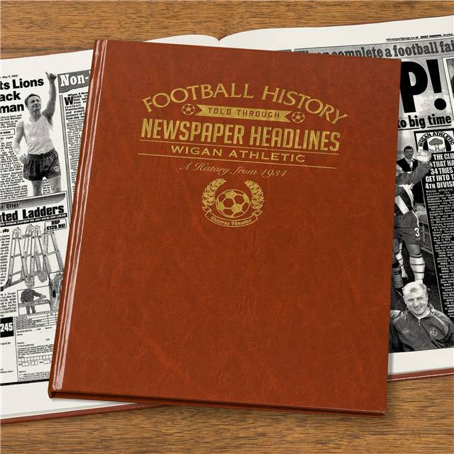 Personalised Wigan Football Newspaper Book - Personalised Gift Solutions - 7